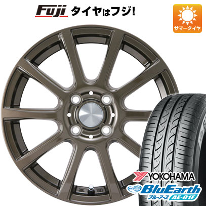 タイヤはフジ 送料無料 カジュアルセット タイプB17 ブロンズ 5.5J 5.50-14 YOKOHAMA ブルーアース AE-01F 175/65R14 14インチ サマータイヤ ホイール4本セット