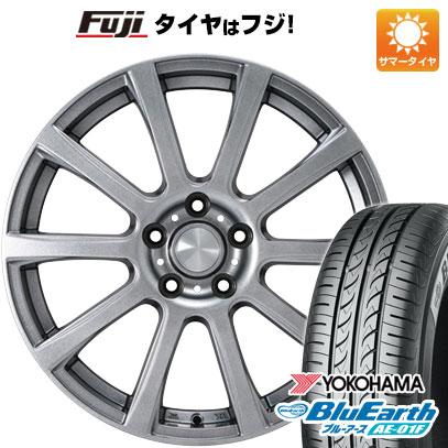 タイヤはフジ 送料無料 カジュアルセット タイプB17 メタリックグレー 6.5J 6.50-16 YOKOHAMA ブルーアース AE-01F 195/55R16 16インチ サマータイヤ ホイール4本セット