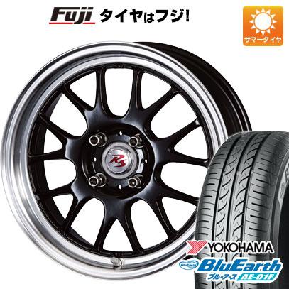タイヤはフジ 送料無料 CRIMSON クリムソン RS ST AIRモノブロック 5.5J 5.50-15 YOKOHAMA ブルーアース AE-01F 175/65R15 15インチ サマータイヤ ホイール4本セット