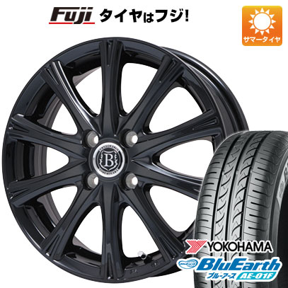 タイヤはフジ 送料無料 フィット GK3専用 BRANDLE-LINE ブランドルライン アヴェルサ 10Z 5.5J 5.50-14 YOKOHAMA ブルーアース AE-01F 175/70R14 14インチ サマータイヤ ホイール4本セット