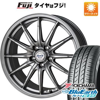タイヤはフジ 送料無料 シエンタ 5穴/100 MONZA モンツァ ZACK JP-812 6J 6.00-15 YOKOHAMA ブルーアース AE-01F 185/60R15 15インチ サマータイヤ ホイール4本セット