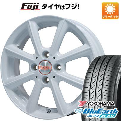 タイヤはフジ 送料無料 ソリオ(MA26S) PREMIX プレミックス ナナ 4.5J 4.50-14 YOKOHAMA ブルーアース AE-01F 165/70R14 14インチ サマータイヤ ホイール4本セット