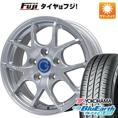 タイヤはフジ 送料無料 BRANDLE ブランドル M69 6J 6.00-15 YOKOHAMA ブルーアース AE-01F 195/65R15 15インチ サマータイヤ ホイール4本セット