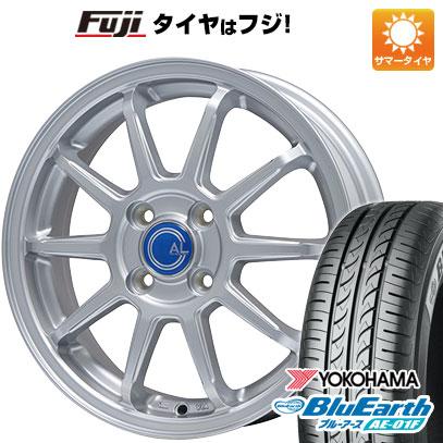 タイヤはフジ 送料無料 BRANDLE ブランドル M60 5.5J 5.50-14 YOKOHAMA ブルーアース AE-01F 175/65R14 14インチ サマータイヤ ホイール4本セット