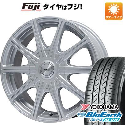 タイヤはフジ 送料無料 BIGWAY ビッグウエイ TRG MP10 5.5J 5.50-14 YOKOHAMA ブルーアース AE-01F 175/65R14 14インチ サマータイヤ ホイール4本セット