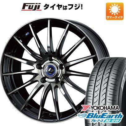 タイヤはフジ 送料無料 WEDS ウェッズ レオニス NAVIA 05 6J 6.00-15 YOKOHAMA ブルーアース AE-01F 195/65R15 15インチ サマータイヤ ホイール4本セット