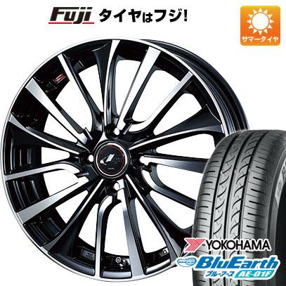 タイヤはフジ 送料無料 WEDS ウェッズ レオニス VT 5.5J 5.50-15 YOKOHAMA ブルーアース AE-01F 185/65R15 15インチ サマータイヤ ホイール4本セット