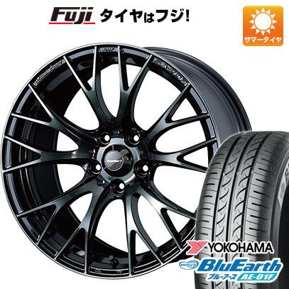 タイヤはフジ 送料無料 WEDS ウェッズスポーツ SA-20R 7J 7.00-16 YOKOHAMA ブルーアース AE-01F 205/60R16 16インチ サマータイヤ ホイール4本セット