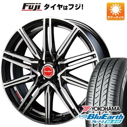 タイヤはフジ 送料無料 ノート BLEST ブレスト ユーロスポーツ タイプレグルス A1 6J 6.00-16 YOKOHAMA ブルーアース AE-01F 195/55R16 16インチ サマータイヤ ホイール4本セット