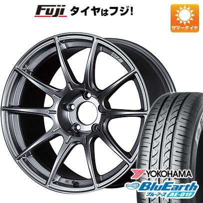 7/25はエントリーでポイント15倍 タイヤはフジ 送料無料 SSR GTX01 6J 6.00-15 YOKOHAMA ブルーアース AE-01F 185/60R15 15インチ サマータイヤ ホイール4本セット