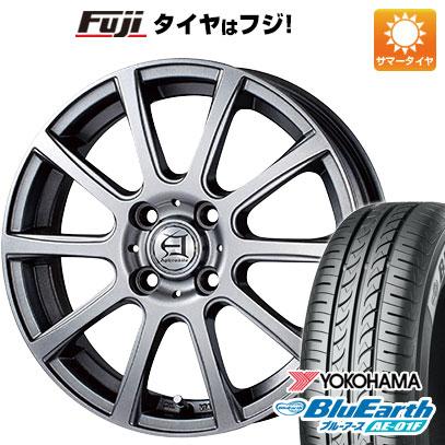 タイヤはフジ 送料無料 TECHNOPIA テクノピア アフロディーテ IS 5.5J 5.50-14 YOKOHAMA ブルーアース AE-01F 175/65R14 14インチ サマータイヤ ホイール4本セット