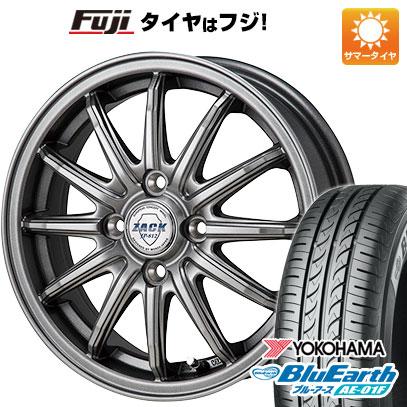 タイヤはフジ 送料無料 MONZA モンツァ ZACK JP-812 5.5J 5.50-14 YOKOHAMA ブルーアース AE-01F 185/65R14 14インチ サマータイヤ ホイール4本セット