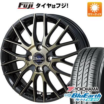 タイヤはフジ 送料無料 MONZA モンツァ ワーウィック エンプレス メッシュ 6J 6.00-15 YOKOHAMA ブルーアース AE-01F 185/65R15 15インチ サマータイヤ ホイール4本セット
