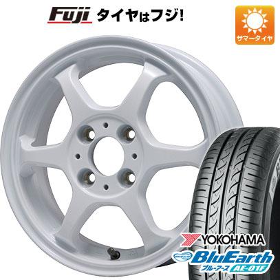 タイヤはフジ 送料無料 ソリオ(MA26S) LEHRMEISTER リアルスポーツ カリスマVS6 5J 5.00-14 YOKOHAMA ブルーアース AE-01F 165/70R14 14インチ サマータイヤ ホイール4本セット