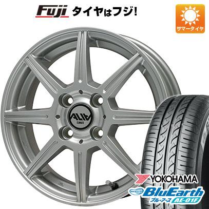 タイヤはフジ 送料無料 CLIMATE クライメイト アリア 5.5J 5.50-14 YOKOHAMA ブルーアース AE-01F 165/70R14 14インチ サマータイヤ ホイール4本セット