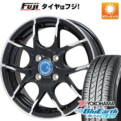 タイヤはフジ 送料無料 BRANDLE ブランドル M69B 5.5J 5.50-14 YOKOHAMA ブルーアース AE-01F 175/70R14 14インチ サマータイヤ ホイール4本セット