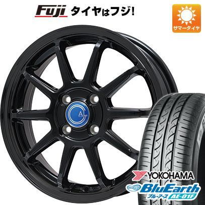 タイヤはフジ 送料無料 BRANDLE-LINE ブランドルライン カルッシャー ブラック 5.5J 5.50-14 YOKOHAMA ブルーアース AE-01F 165/70R14 14インチ サマータイヤ ホイール4本セット