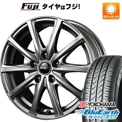 タイヤはフジ 送料無料 MID ユーロスピード V25 5.5J 5.50-14 YOKOHAMA ブルーアース AE-01F 165/70R14 14インチ サマータイヤ ホイール4本セット