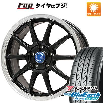 タイヤはフジ 送料無料 BRANDLE-LINE ブランドルライン カルッシャー ブラック/リムポリッシュ 6.5J 6.50-16 YOKOHAMA ブルーアース AE-01F 205/60R16 16インチ サマータイヤ ホイール4本セット