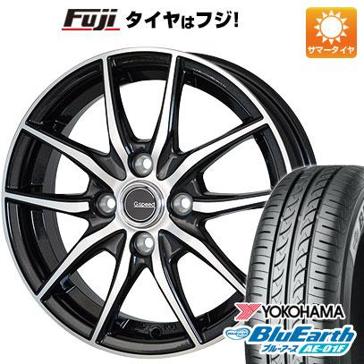 タイヤはフジ 送料無料 HOT STUFF ホットスタッフ ジースピード P-02 5.5J 5.50-15 YOKOHAMA ブルーアース AE-01F 185/65R15 15インチ サマータイヤ ホイール4本セット