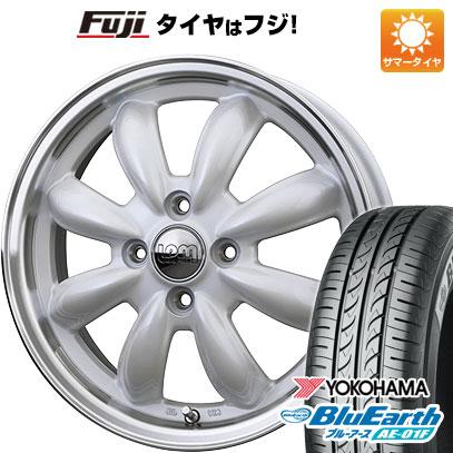タイヤはフジ 送料無料 ソリオ(MA26S) HOT STUFF ホットスタッフ ララパーム カップ 4.5J 4.50-14 YOKOHAMA ブルーアース AE-01F 165/70R14 14インチ サマータイヤ ホイール4本セット