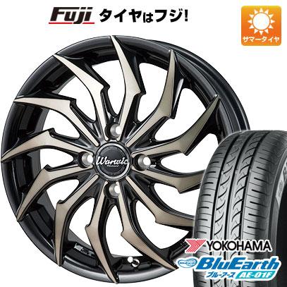 タイヤはフジ 送料無料 MONZA モンツァ ワーウィック ハーベル 5.5J 5.50-15 YOKOHAMA ブルーアース AE-01F 185/60R15 15インチ サマータイヤ ホイール4本セット