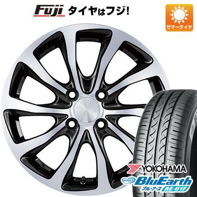 タイヤはフジ 送料無料 BRIDGESTONE ブリヂストン バルミナ T10 5.5J 5.50-14 YOKOHAMA ブルーアース AE-01F 185/65R14 14インチ サマータイヤ ホイール4本セット