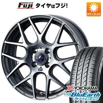 タイヤはフジ 送料無料 WEDS ウェッズ レオニス NAVIA 06 6J 6.00-16 YOKOHAMA ブルーアース AE-01F 195/55R16 16インチ サマータイヤ ホイール4本セット