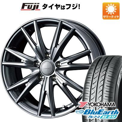タイヤはフジ 送料無料 WEDS ウェッズ ヴェルバ ケヴィン 6.5J 6.50-16 YOKOHAMA ブルーアース AE-01F 195/55R16 16インチ サマータイヤ ホイール4本セット