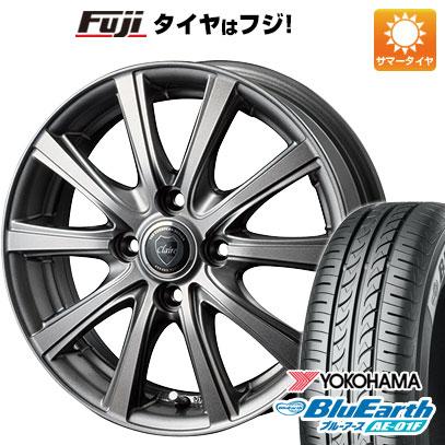 タイヤはフジ 送料無料 INTER MILANO インターミラノ クレール DG10 5.5J 5.50-14 YOKOHAMA ブルーアース AE-01F 185/70R14 14インチ サマータイヤ ホイール4本セット