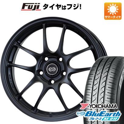 タイヤはフジ 送料無料 ENKEI エンケイ PF01 6.5J 6.50-15 YOKOHAMA ブルーアース AE-01F 185/65R15 15インチ サマータイヤ ホイール4本セット