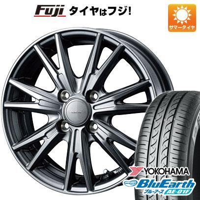 タイヤはフジ 送料無料 WEDS ウェッズ ヴェルバ ケヴィン 5.5J 5.50-14 YOKOHAMA ブルーアース AE-01F 175/65R14 14インチ サマータイヤ ホイール4本セット