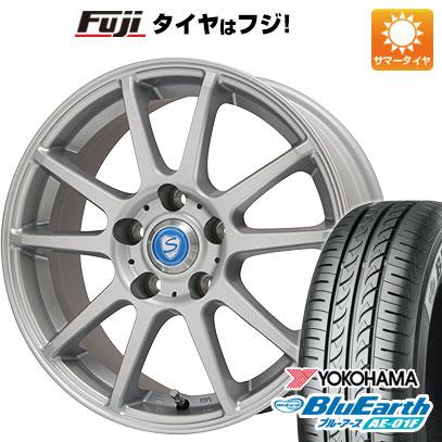 タイヤはフジ 送料無料 BRANDLE ブランドル 302 6J 6.00-15 YOKOHAMA ブルーアース AE-01F 205/65R15 15インチ サマータイヤ ホイール4本セット