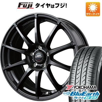 タイヤはフジ 送料無料 MID シュナイダー スタッグ 5.5J 5.50-14 YOKOHAMA ブルーアース AE-01F 185/70R14 14インチ サマータイヤ ホイール4本セット