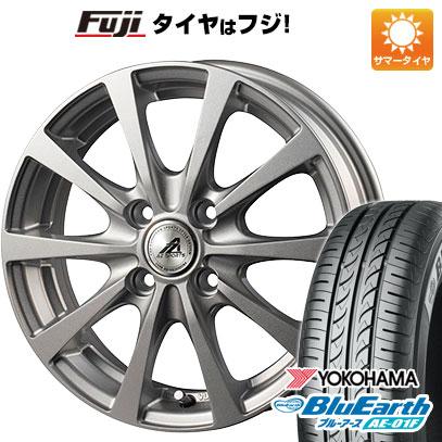 タイヤはフジ 送料無料 INTER MILANO インターミラノ AZ-SPORTS EX-10 5.5J 5.50-14 YOKOHAMA ブルーアース AE-01F 165/70R14 14インチ サマータイヤ ホイール4本セット