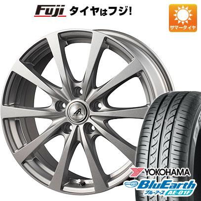 タイヤはフジ 送料無料 INTER MILANO インターミラノ AZ-SPORTS EX-10 6.5J 6.50-16 YOKOHAMA ブルーアース AE-01F 195/55R16 16インチ サマータイヤ ホイール4本セット