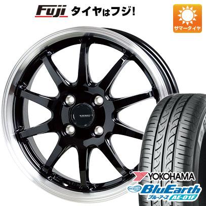 タイヤはフジ 送料無料 ソリオ(MA26S) HOT STUFF ホットスタッフ ジースピード P-04 4.5J 4.50-14 YOKOHAMA ブルーアース AE-01F 165/70R14 14インチ サマータイヤ ホイール4本セット