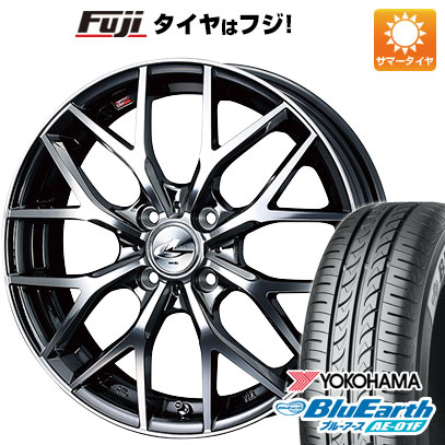 タイヤはフジ 送料無料 WEDS ウェッズ レオニス MX 6J 6.00-16 YOKOHAMA ブルーアース AE-01F 185/55R16 16インチ サマータイヤ ホイール4本セット