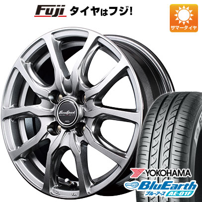 タイヤはフジ 送料無料 MID ユーロスピード G52 5.5J 5.50-14 YOKOHAMA ブルーアース AE-01F 185/70R14 14インチ サマータイヤ ホイール4本セット