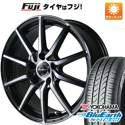タイヤはフジ 送料無料 MID ユーロスピード S810 6J 6.00-15 YOKOHAMA ブルーアース AE-01F 205/65R15 15インチ サマータイヤ ホイール4本セット
