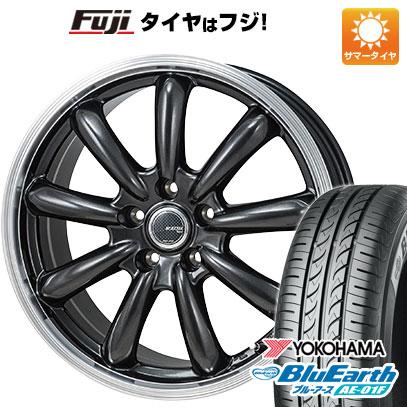 タイヤはフジ 送料無料 フリード 5穴/114 MONZA モンツァ JPスタイル バーニー 6J 6.00-15 YOKOHAMA ブルーアース AE-01F 185/65R15 15インチ サマータイヤ ホイール4本セット