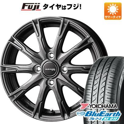 タイヤはフジ 送料無料 TOPY トピー アザーネ E10 5.5J 5.50-14 YOKOHAMA ブルーアース AE-01F 165/70R14 14インチ サマータイヤ ホイール4本セット