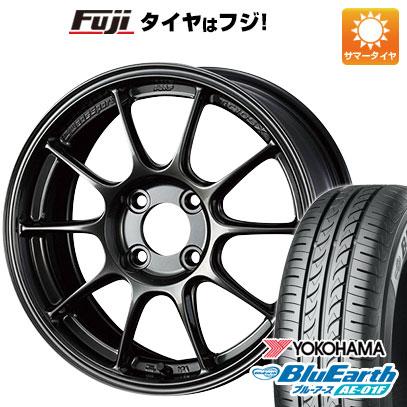 タイヤはフジ 送料無料 WEDS ウェッズスポーツ TC-105X 7J 7.00-16 YOKOHAMA ブルーアース AE-01F 185/55R16 16インチ サマータイヤ ホイール4本セット