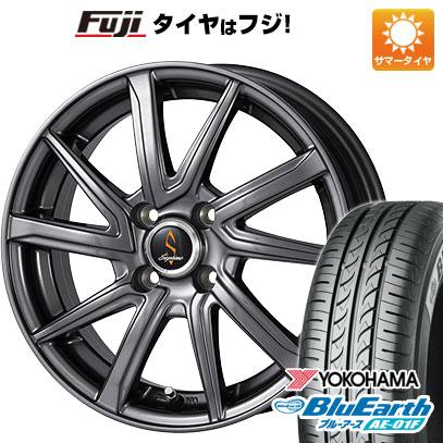 タイヤはフジ 送料無料 WORK ワーク セプティモ G01 ダークグレー 5.5J 5.50-14 YOKOHAMA ブルーアース AE-01F 165/70R14 14インチ サマータイヤ ホイール4本セット