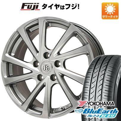 タイヤはフジ 送料無料 BRANDLE ブランドル E04 6.5J 6.50-16 YOKOHAMA ブルーアース AE-01F 195/55R16 16インチ サマータイヤ ホイール4本セット