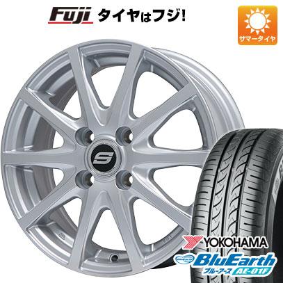 タイヤはフジ 送料無料 BRANDLE ブランドル M71 5.5J 5.50-15 YOKOHAMA ブルーアース AE-01F 185/65R15 15インチ サマータイヤ ホイール4本セット