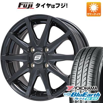 タイヤはフジ 送料無料 BRANDLE ブランドル M71B 5.5J 5.50-14 YOKOHAMA ブルーアース AE-01F 175/65R14 14インチ サマータイヤ ホイール4本セット