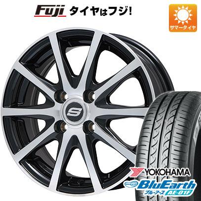 タイヤはフジ 送料無料 BRANDLE ブランドル M71BP 5.5J 5.50-14 YOKOHAMA ブルーアース AE-01F 175/65R14 14インチ サマータイヤ ホイール4本セット