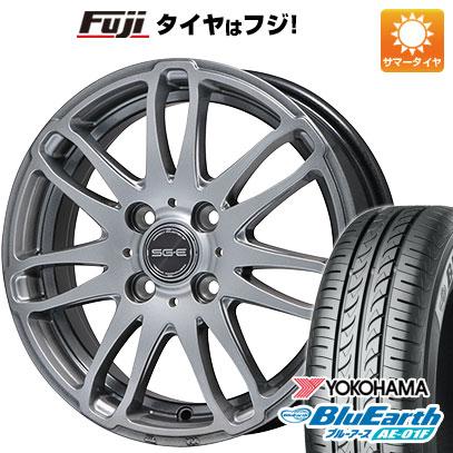 タイヤはフジ 送料無料 BRANDLE ブランドル G72 5.5J 5.50-15 YOKOHAMA ブルーアース AE-01F 185/65R15 15インチ サマータイヤ ホイール4本セット