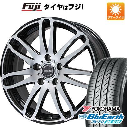 タイヤはフジ 送料無料 BRANDLE ブランドル G72B 6.5J 6.50-16 YOKOHAMA ブルーアース AE-01F 195/60R16 16インチ サマータイヤ ホイール4本セット